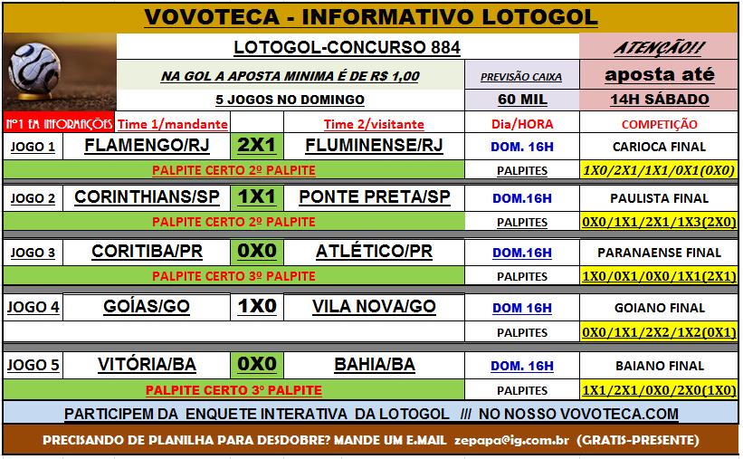 LOTOGOL 884