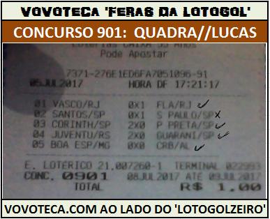 lotogol 901 quadra lucas