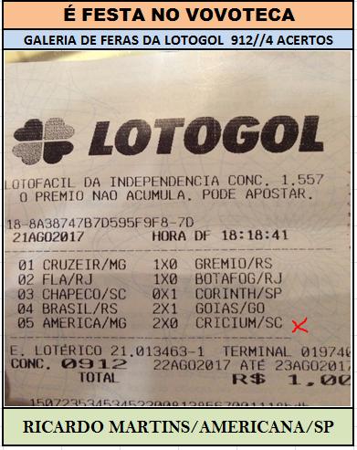 lotogol 912 quadra ricardo
