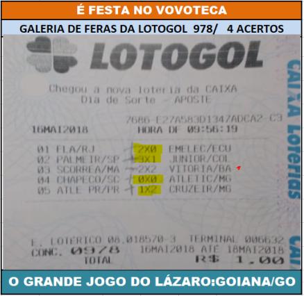lotogol 978 quadra lazaro