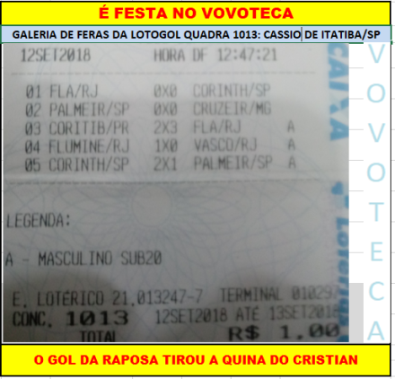 LOTOGOL 1013 QUADRA CRISTIAN