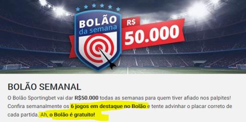 851 BOLÃO SPORTINGBET