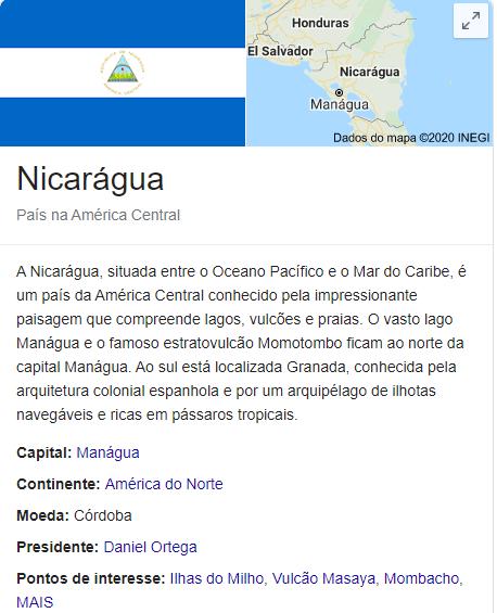 894 nicaragua dados
